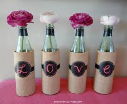 Glass Bottle Decoration Ideas 100 Super Easy Last Minute DIY Valentine's Day Home Decoration 87