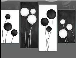 black and white abstract wall art world of example