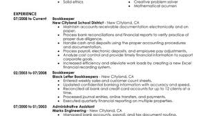 Bookkeeping Resume Unforgettable Bookkeeper Resume Examples To Stand Out