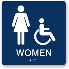 Image Ladies An Error Occurred Custom Ada Braille Signs Ada Womens Restroom Sign Braille Bathroom Sign