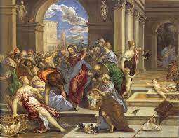 el greco christ driving the traders from the temple 1600 oil on canvas pictify your social art network