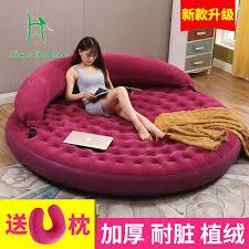 inflatable furniture. Louis Fahion Round Double Folding Inflatable Sofa Bed Single Lazy Cushion Increase Creative Home Furniture A