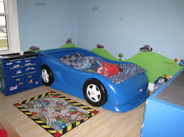 Race Car Room Decor Boys Race Car Themed Room Twin Size Little Tikes Car Bed And