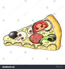 pizza slice graphic. Plain Slice Sketch Colorful Graphic Slice Of Pizza Illustration Vector Draft  Silhouette Drawing Isolated On White To Pizza Slice Graphic C