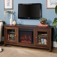dark brown traditional 58 inch fireplace tv stand rc willey furniture