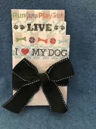 """New Set Of 4 Stacked Memo Pads """"Dog"""" Themed By Sophia Riley 
