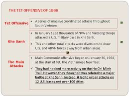 click on the window to start video the war develops the main idea the tet offensive of 1968 in 1968 thousands of nva and vietcong troops attacked a