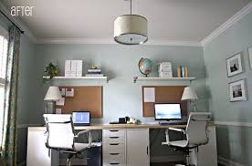 two desk home office. Unique Two TwoPerson Computer Workstation  Another Option Would Be A Long Desk That  Two Persons Can Share You  In Two Desk Home Office Pinterest