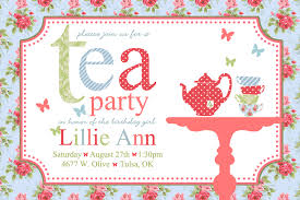 part invites attractive invitation template card for tea party momecard