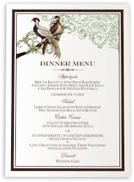 wedding menu cards & dinner party menu cards shop menus for Wedding Reception Menu Cards asian peace birds birds and butterflies wedding menus wedding reception menu card template