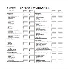 expense sheet expense sheet template 13 download free documents for pdf