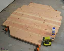 how to make a round table top free woodworking plans to build a chunky french farmhouse
