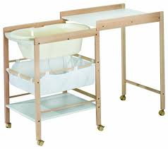 geuther combo changing table baby bath for s model hanna changing pad not included only wooden frame and bath as per the photo
