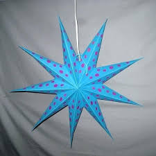paper star ornaments paper star lanterns teal with pink polka dots paper star lantern hanging decoration paper star