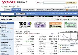 Yahoo Finance Quotes Enchanting Yahoo Finance BlogIntroducing Ticker Tape On The Quotes Pages