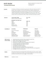 Cv Account Entry Level Accounts Clerk Resume Accountant Cv Template