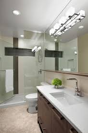 track lighting ideas for bathroom mirror with metals above floating sink