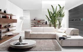 Living Room Corner Decor Interior Elegant White Corner Sofa With Great Grey Fur Carpet