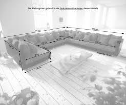 Couch Clovis Xxl Weiss Schwarz Mit Hocker Ottomane Links
