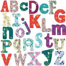 com boho alphabet letters wall stickers 110 decals school decor nursery personalize baby