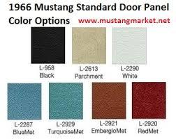 66 Mustang Color Chart 1966 66 Mustang Interior Kit Parts