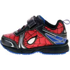 Paw Patrol Light Up Shoes Walmart Spiderman Toddler Boys Lighted Athletic Shoe Walmart Com