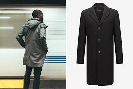 photo hugo boss virgin wool topcoat