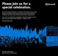 Microsoft Invitation Microsoft Invites Users To New Windows 10 Device Party