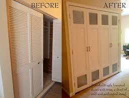 bifold closet door ideas. DIY Bi Fold Closet Door Makeovers Bright Green Design With Louvered Doors Also White Ceiling Ideas Bifold