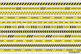 Black And Yellow Stripes Border Creative Police Line Black And Yellow Stripe Border Police Warning
