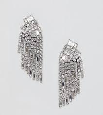true decadence silver diamante chandelier earrings