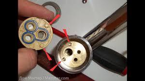 Ремонт однорычажного смесителя / Single lever <b>mixer</b> repair ...