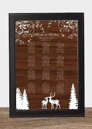 Digital Seating Chart Wedding Digital Woodland Deer Wedding Seating Chart Table Sign Sit