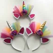 glitter metallic unicorn headband for girls kids 2017 diy felt unicorn horn headband party hair accessories korean hair accessories girls hair accessories