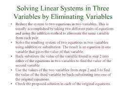 systems of linear equations in three variables an equation such