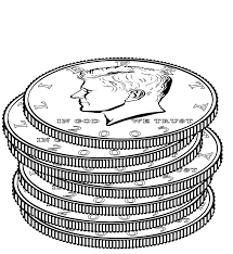 Small Picture Coloring Pages Coin For Kids Within itgodme