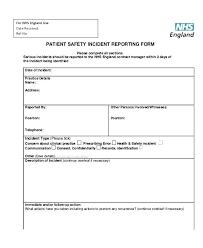 Incident Communication Template School Incident Report Form