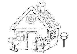 Christmas House Coloring Pages Coloring Gingerbread House Colouring