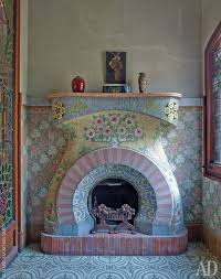 casa navas small living room on the second floor the fireplace in the art