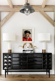 modern furniture credenza. Mid-Century Modern Entry And Hall In Sag Harbor, NY By Timothy Godbold MRK: That Credenza The Lamps OH MY Black White With Tan, Awesome! Furniture