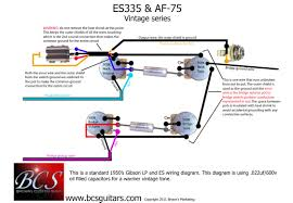 instructions diagrams bcs custom guitars wiring diagrams vesk 1 vintage es335 es style guitars 2 pickups 2 volumes 2 tones 3 way toggle switch