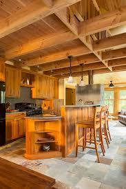 rustic cabin kitchens. Rustic Cabin Kitchens Kitchen With Wood Bar Stools Cabinets U