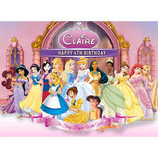 Disney Princess Sweet Tops Personalised Edible Cake Toppers And