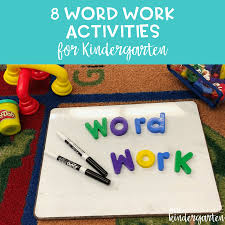 Activities Word 8 Word Work Activities For Beginning Of The Year Kindergarten