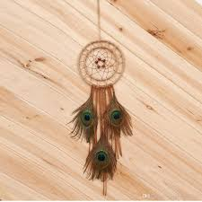 Dream Catchers Wholesale Wholesale Handmade Large Peacock Feather Dream Catcher Hanging 93