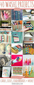40 Washi Tape Projects  Cards, Cases, Chalkboards and More! For more washi