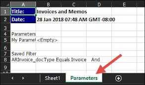 Generic Inquiry - Export To Excel - Header | Ideas for Acumatica