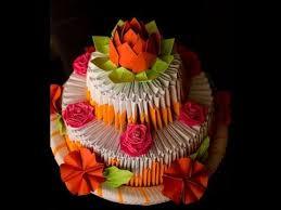 Origami Birthday Cake Box Ctadamsauthorcom
