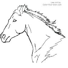 Unicorn Head Coloring Pages Printable Horse Mask Children Masks To