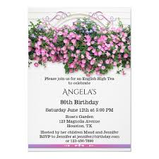 Ingles Floral Elegant Floral English Birthday Party Invitation